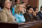 Jury watching a criminal defendant testify at trial