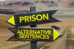 Sign Showing Penalties for a Wyoming Domestic Violence Conviction - Prison or Alternative Sentences